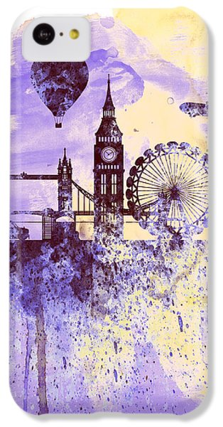 London Watercolor Skyline IPhone 5c Case by Naxart Studio