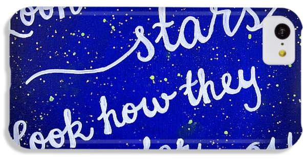 Look At The Stars Quote Painting IPhone 5c Case by Michelle Eshleman