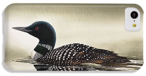 Loon In Still Waters IPhone 5c Case by James Williamson