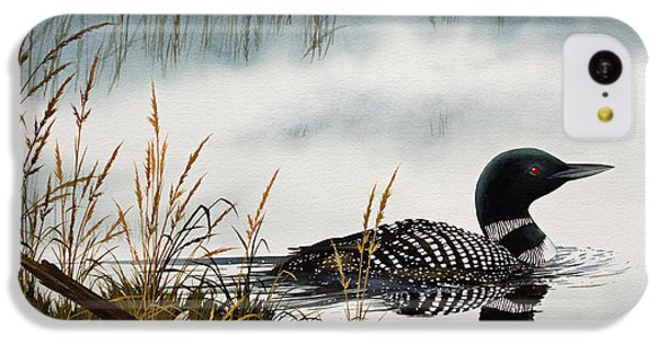 Loons Misty Shore IPhone 5c Case by James Williamson