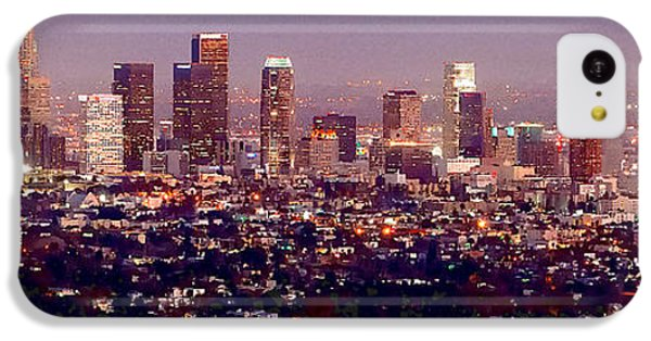 Los Angeles Skyline At Dusk IPhone 5c Case by Jon Holiday