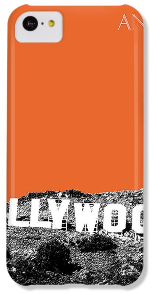 Los Angeles Skyline Hollywood - Coral IPhone 5c Case by DB Artist