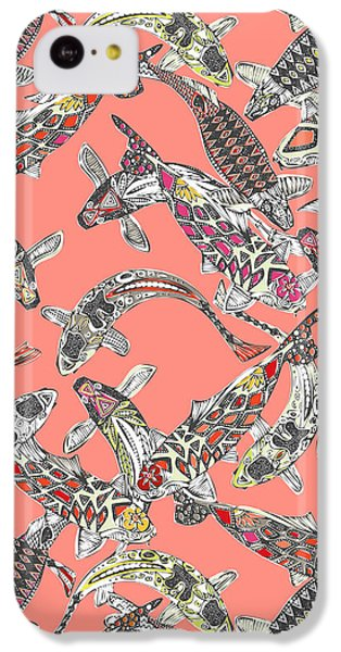 Lucky Koi Coral IPhone 5c Case by Sharon Turner