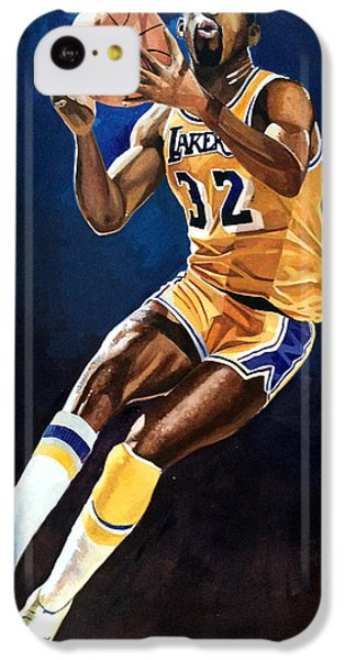 Magic Johnson - Lakers IPhone 5c Case by Michael  Pattison
