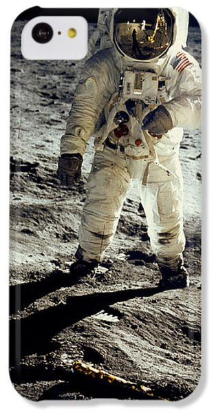 Man On The Moon IPhone 5c Case by Neil Armstrong/Underwood Archive