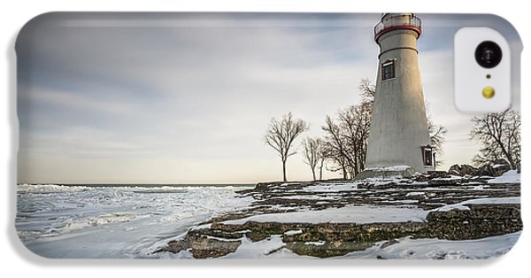 Marblehead Lighthouse Winter IPhone 5c Case by James Dean