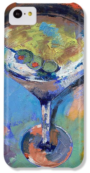 Martini Oil Painting IPhone 5c Case by Michael Creese