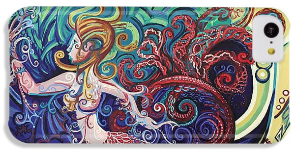 Mermaid Gargoyle IPhone 5c Case by Genevieve Esson