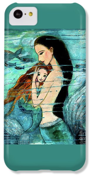 Mermaid Mother And Child IPhone 5c Case by Shijun Munns