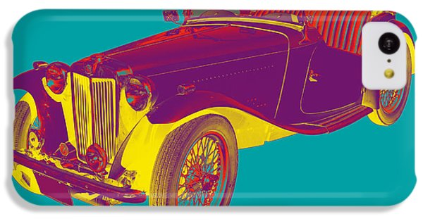 Mg Convertible Antique Car Pop Art IPhone 5c Case by Keith Webber Jr