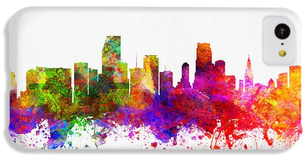 Miami Florida Skyline IPhone 5c Case by Aged Pixel
