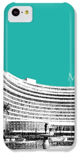 Miami Skyline Fontainebleau Hotel - Teal IPhone 5c Case by DB Artist
