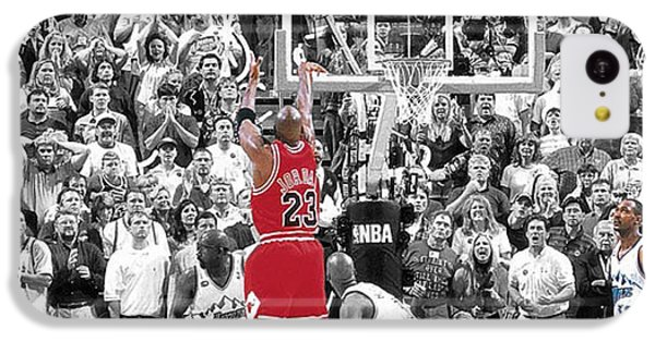 Michael Jordan Buzzer Beater IPhone 5c Case by Brian Reaves