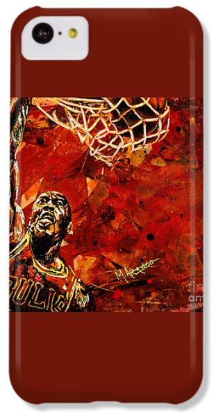 Michael Jordan IPhone 5c Case by Maria Arango