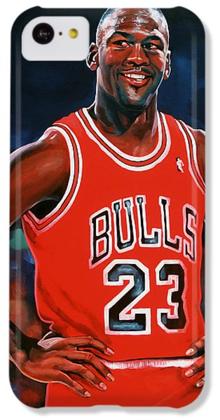Michael Jordan IPhone 5c Case by Paul Meijering