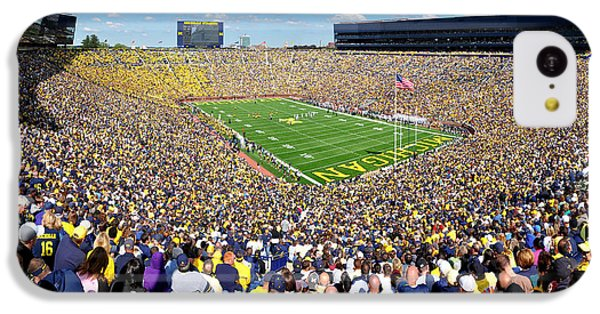 Michigan Stadium - Wolverines IPhone 5c Case by Georgia Fowler
