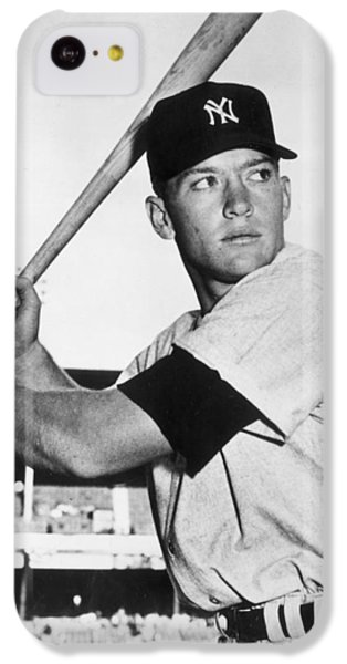 Mickey Mantle At-bat IPhone 5c Case by Gianfranco Weiss