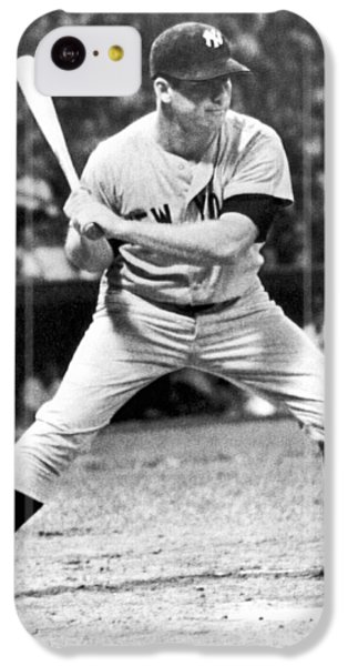 Mickey Mantle At Bat IPhone 5c Case by Underwood Archives