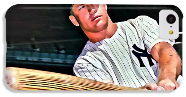 Mickey Mantle Painting IPhone 5c Case by Florian Rodarte