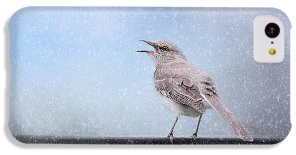 Mockingbird In The Snow IPhone 5c Case by Jai Johnson