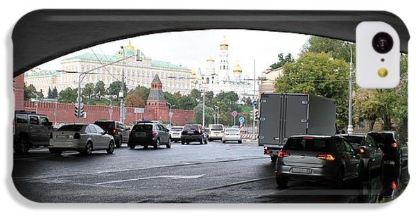 Moscow Kremlin Seen Through The Archway Of Greater Stone Bridge In Moscow I IPhone 5c Case by Anna Yurasovsky