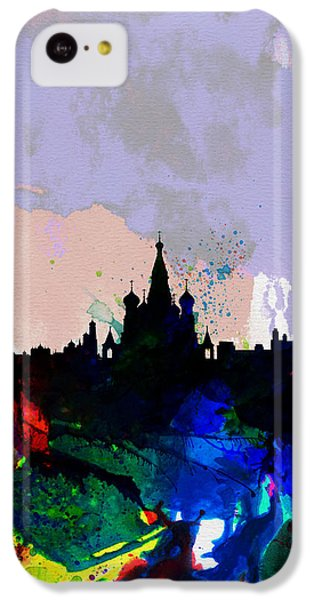 Moscow Watercolor Skyline IPhone 5c Case by Naxart Studio