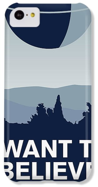My I Want To Believe Minimal Poster-deathstar IPhone 5c Case by Chungkong Art