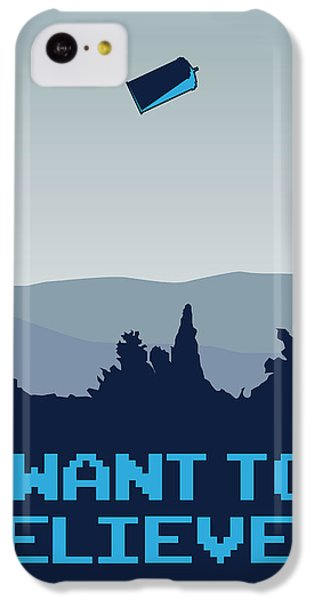 My I Want To Believe Minimal Poster- Tardis IPhone 5c Case by Chungkong Art