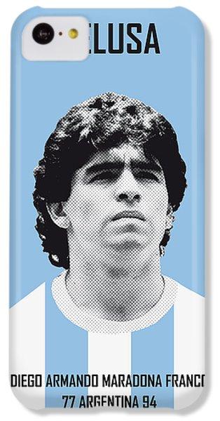 My Maradona Soccer Legend Poster IPhone 5c Case by Chungkong Art