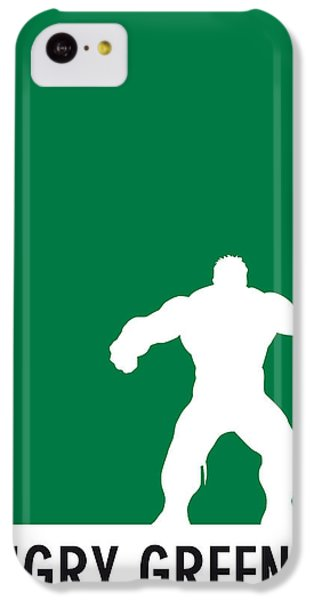 My Superhero 01 Angry Green Minimal Poster IPhone 5c Case by Chungkong Art