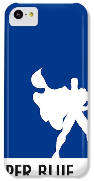My Superhero 03 Super Blue Minimal Poster IPhone 5c Case by Chungkong Art