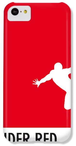 My Superhero 04 Spider Red Minimal Poster IPhone 5c Case by Chungkong Art