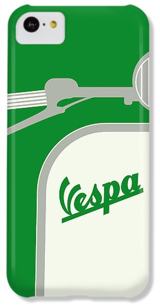 My Vespa - From Italy With Love - Green IPhone 5c Case by Chungkong Art
