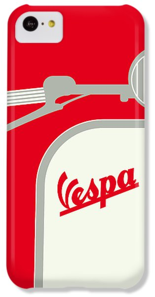 My Vespa - From Italy With Love - Red IPhone 5c Case by Chungkong Art