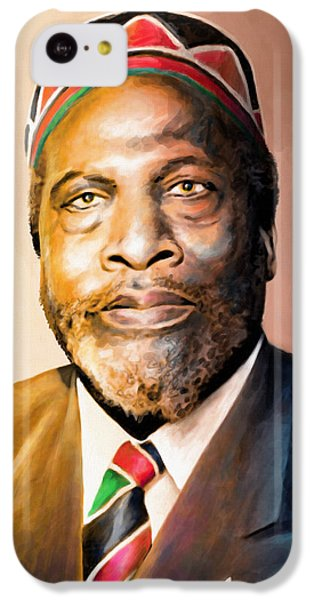 Mzee Jomo Kenyatta IPhone 5c Case by Anthony Mwangi