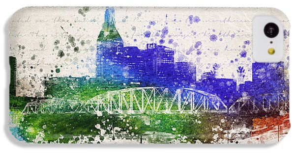 Nashville In Color IPhone 5c Case by Aged Pixel