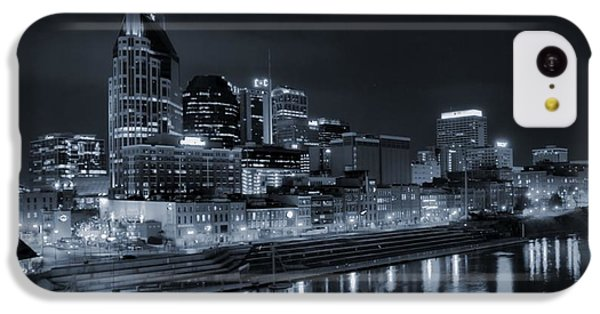 Nashville Skyline At Night IPhone 5c Case by Dan Sproul
