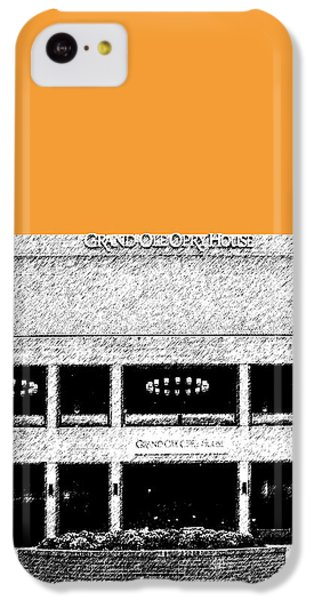 Nashville Skyline Grand Ole Opry - Orange IPhone 5c Case by DB Artist