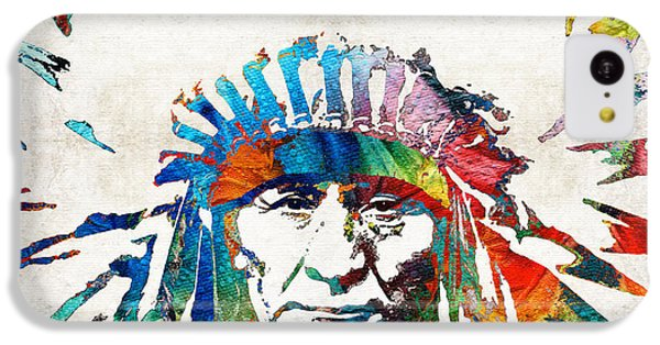 Native American Art - Chief - By Sharon Cummings IPhone 5c Case by Sharon Cummings