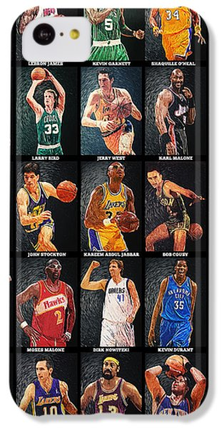 Nba Legends IPhone 5c Case by Taylan Apukovska
