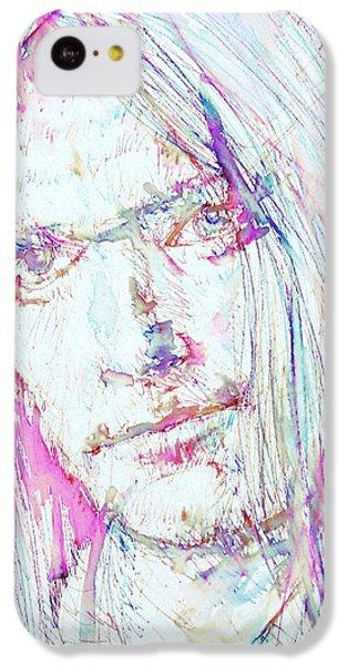 Neil Young - Colored Pens Portrait IPhone 5c Case by Fabrizio Cassetta