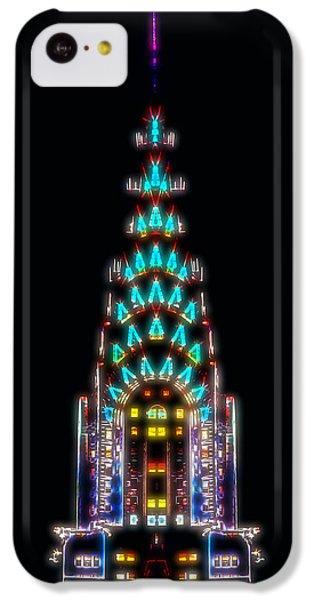 Neon Spires IPhone 5c Case by Az Jackson