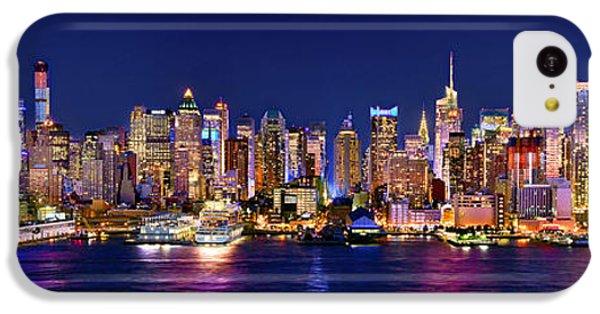 New York City Nyc Midtown Manhattan At Night IPhone 5c Case by Jon Holiday