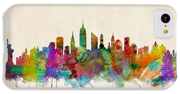 New York City Skyline IPhone 5c Case by Michael Tompsett