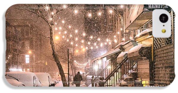 New York City - Winter Snow Scene - East Village IPhone 5c Case by Vivienne Gucwa