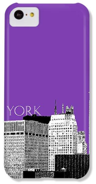 New York Skyline Chrysler Building - Purple IPhone 5c Case by DB Artist