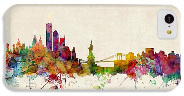 New York Skyline IPhone 5c Case by Michael Tompsett