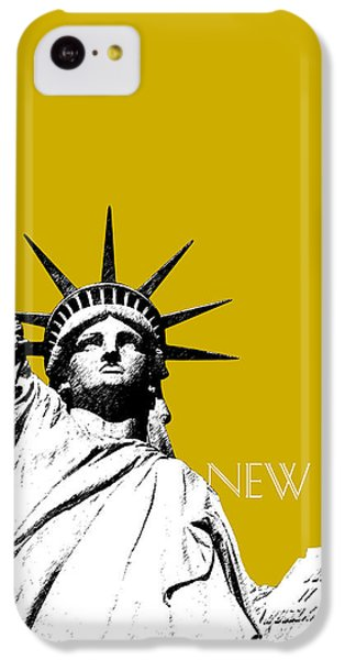 New York Skyline Statue Of Liberty - Gold IPhone 5c Case by DB Artist