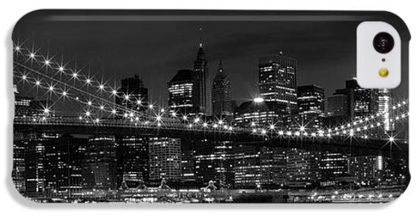 Night-skyline New York City Bw IPhone 5c Case by Melanie Viola