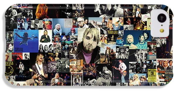 Nirvana Collage IPhone 5c Case by Taylan Apukovska